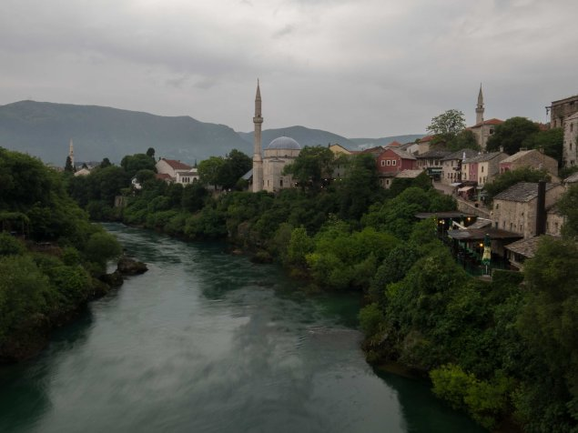 Mostar looking across to the Muslim side