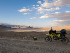 Sunset over the pamirs