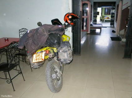 Safe bike parking in the hotel lobby