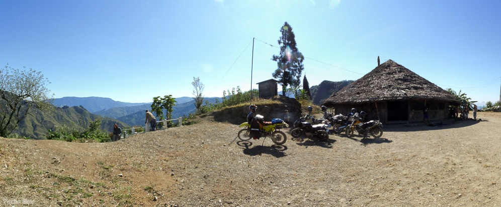 The bikes in Myanmar, the village was build long before the border was drawn