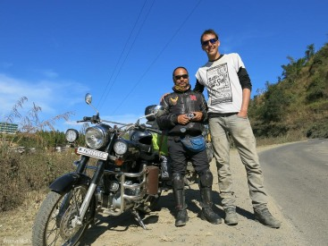 Manipur biker on hims way back from an Enfield meet